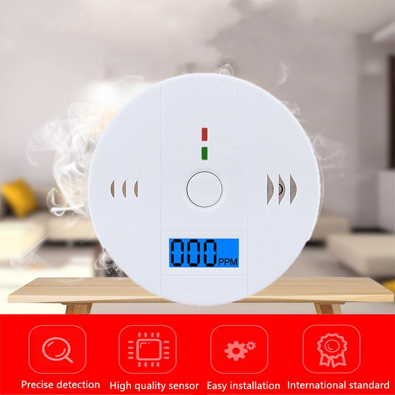 Home Security LCD Photoelectric Independent CO Gas Sensor Carbon 85dB Warning High Sensitive Monoxide Poisoning Alarm Detector