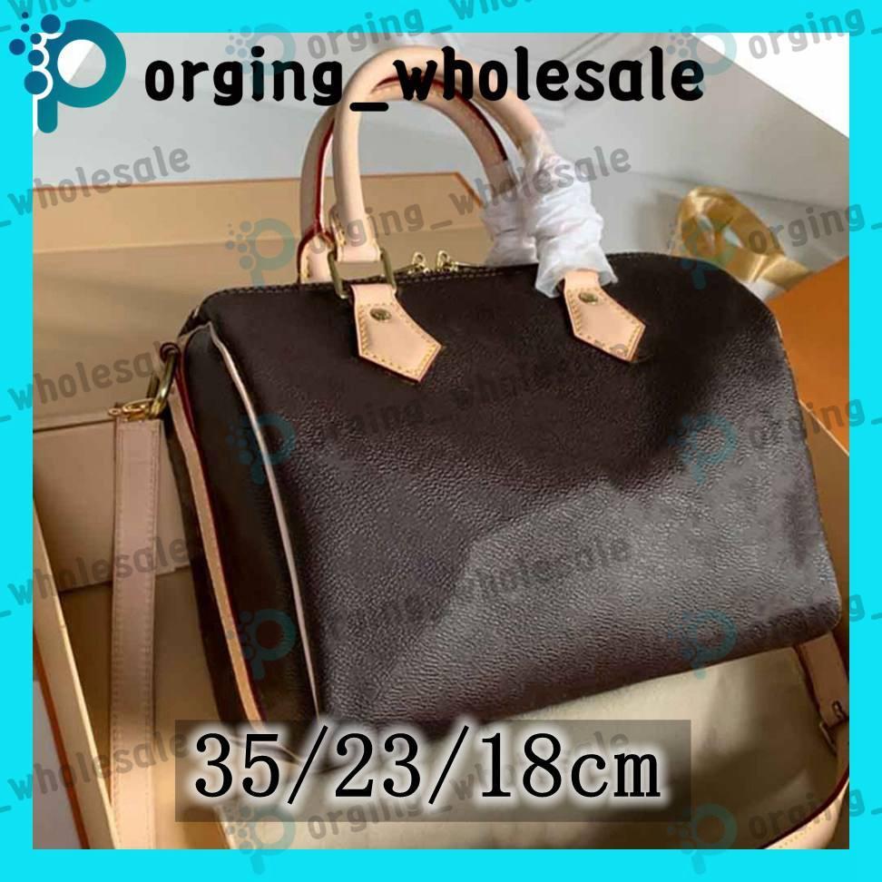 Speedy tote bag handbags hızlı çanta Omuz Kayışı Toz Torbası LM ile Messenger Çanta Klasik Stil Moda Çanta Bayan Çanta Omuz Çantaları Bayanlar Çanta Speedy adies