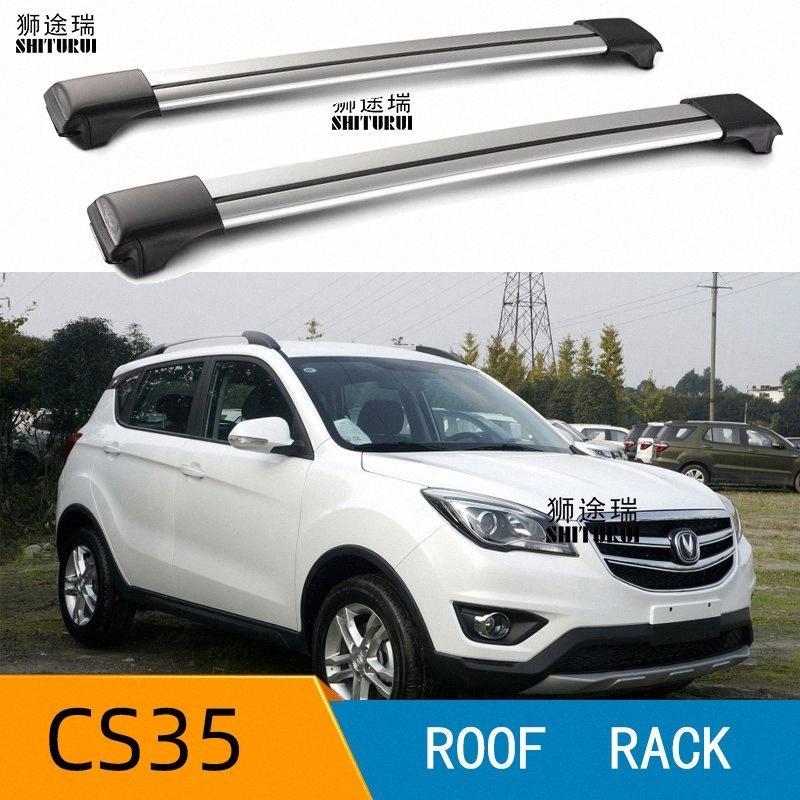 2 pezzi tetto bar Per CS35 Changan 2017 2018 2019 2020 lega di alluminio laterale barre trasversali mancorrenti sul tetto portapacchi CUV SUV LED vKfP #