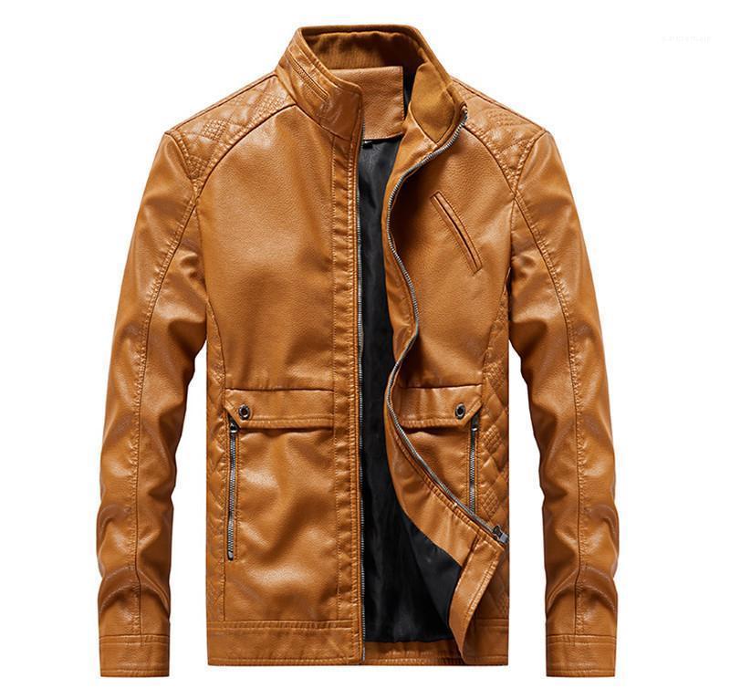 Frühling und Herbst Lederjacke Motorrad-Jacken Männer Lässige Kleidung Herrenmode Designer Jacken New Pelz
