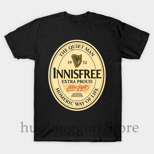 Drôle imprimé hommes T-shirt T-shirts O-cou Innisfree femmes coton T-shirt