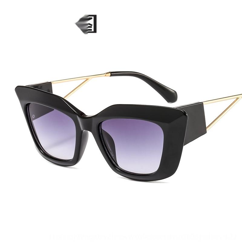 xtlVu nuovo sole SunEye sole su larga cornice del gatto 1924 occhiali da sole decorativi delle donne personalizzato street photography occhiali da sole ht