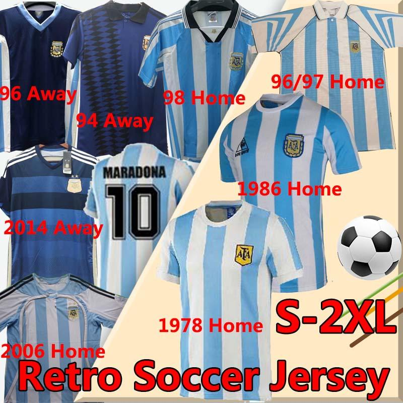 Argentina MARADONA América clássica MESSI Vintage camisa de futebol camisa de futebol 86 retro 94 Argentina Copa 78 Aguero Dybala ICARDI