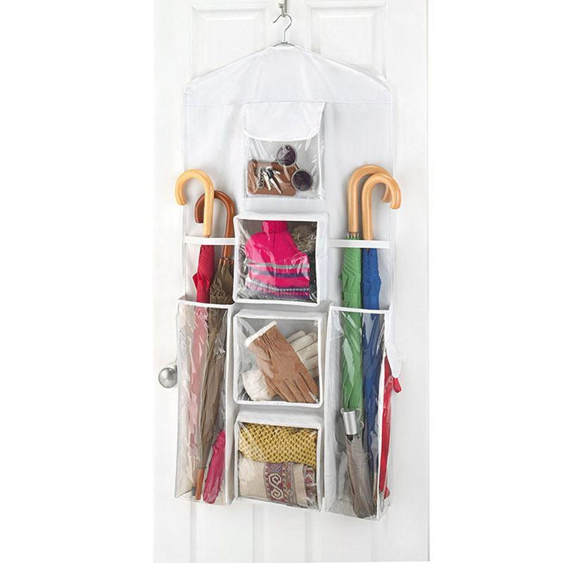 Taschenaufbewahrung Hanging für Handtasche Organizer Schrank Sundery Kleiderschrank Türwand Transparente Tasche Dekorationen Weihnachten Klar MEVSI