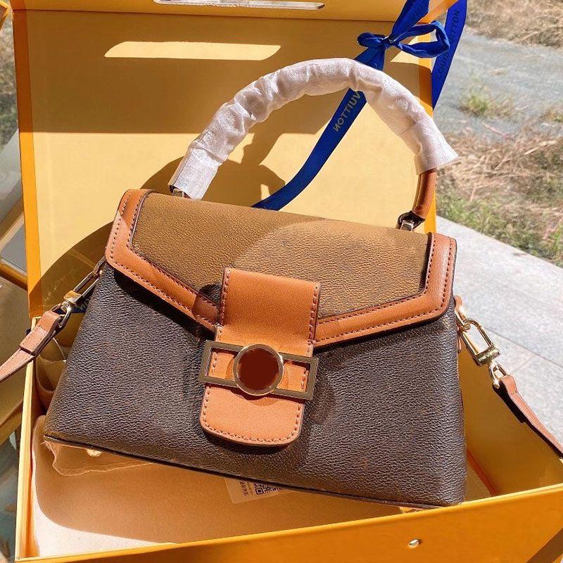 Solo retro daphne impresión octagonal bolso colgajo bolso de hombro bolso de las señoras Messenger Crossbody Postman Cadena láser Gloqi