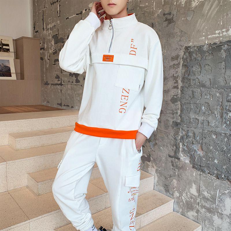 Designer Mens Fatos Casual Imprimir sweatsuits Hommes Jogger Suits Pullover Hoodies Sporting Homens conjuntos de fatos de Hip Hop
