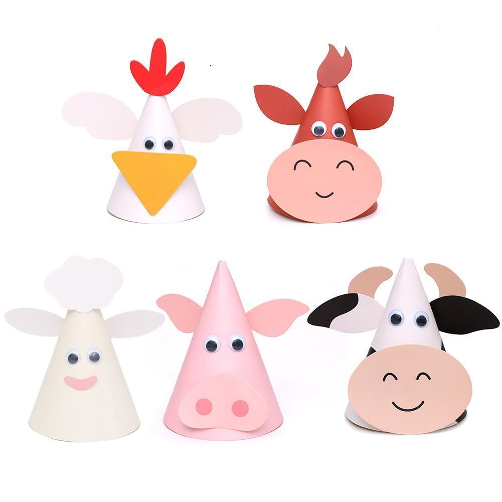 Divertimento Barnyard La fattoria degli animali tema della ragazza di festa di compleanno cappello del bambino doccia Sesso Rivela Forniture regalo del Ringraziamento decorazioni