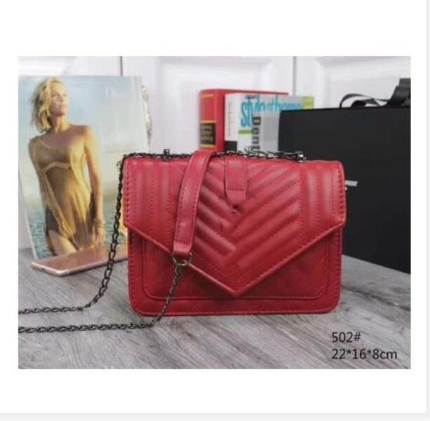 High Bag Mode Frauen Schulter Weibliche Qualität Silber und Splitter Messenger Leder Crossbody PU Kette Gold Handtaschenwallet 6Color PQHCP