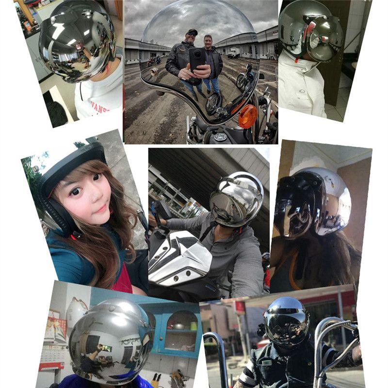 Silver plating Motorcycle Helmet 3/4 Open Face Vintage Casco Moto Jet Scooter Bike Helmet Retro DOT approved Casque CE