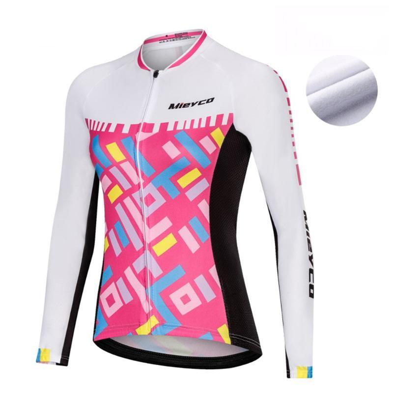 Mieyco Велоспорт куртка велосипедов ветрозащитной Одежда Зимней Термальная руно велосипед пальто женщины с длинным рукавом задействуя Джерси Одежда