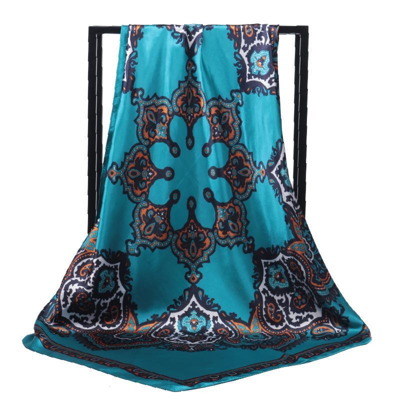 Nouveau * Gaohe de style ethnique Bodhi Noix de Cajou grande écharpe carrée de femmes musulmanes