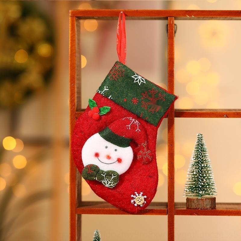 Weihnachtsbaum dekorative Anhänger Weihnachtsmann-Geschenk-Beutel und sockssocks Weihnachtskarikatur kleine Socken Geschenktüte id5vU