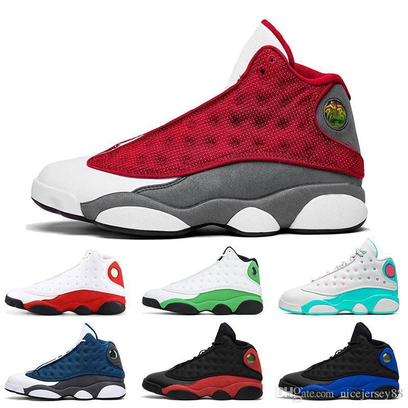 2020 nuevo rojo Flint 13 Jumpman 13 mujeres para hombre de los zapatos de baloncesto 13s Hyper Real Bred Chicago verde afortunado para hombre zapatillas de deporte entrenadores deportivos