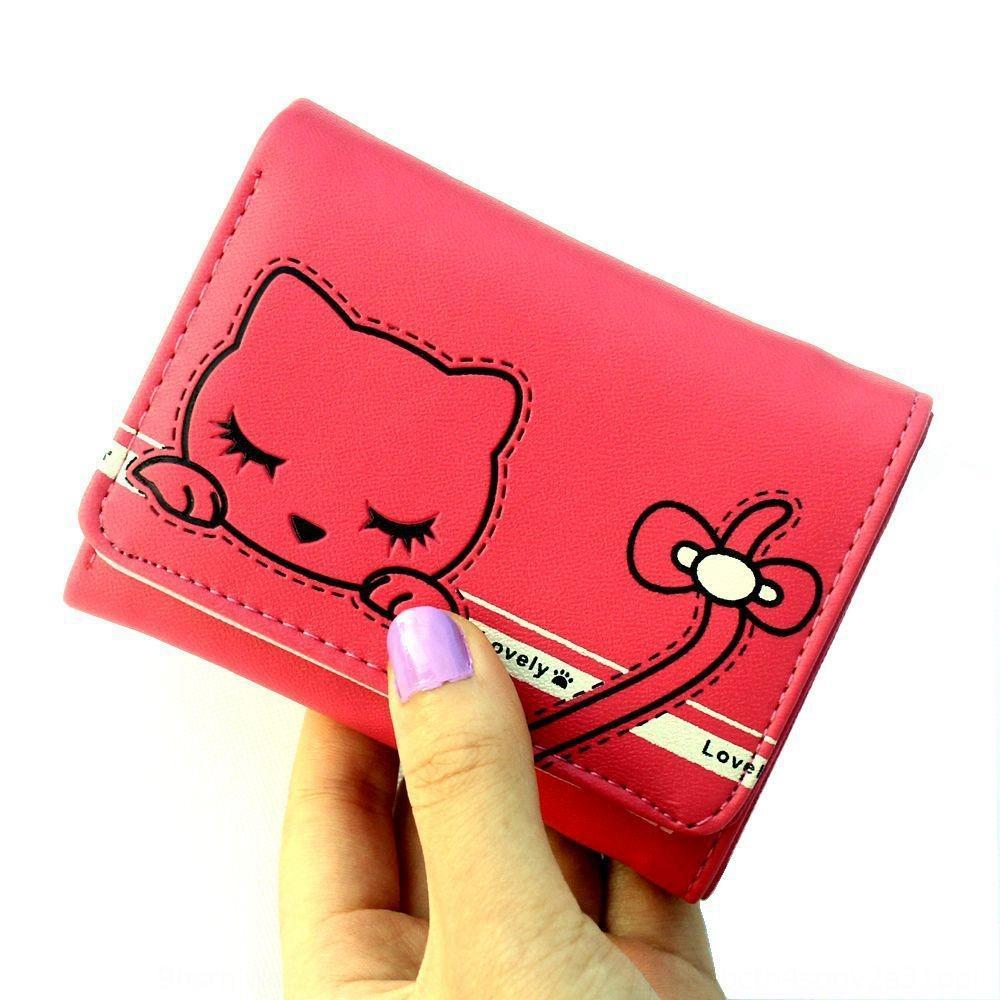 dZfKm coreano estilo curto bolsa da moeda de 30% de banda desenhada das meninas cartão da borboleta da senhora do gato bonito arco carteira de estudante saco cartão da carteira
