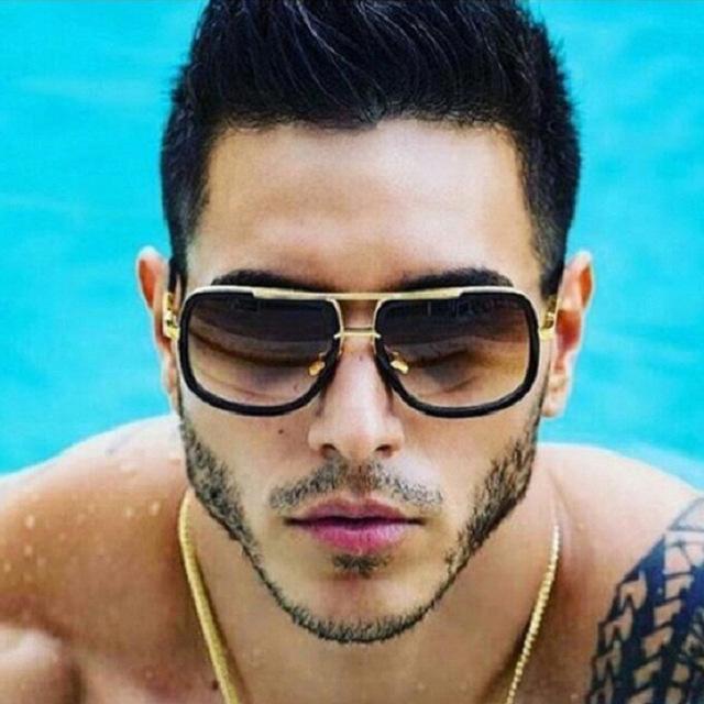 2020 моды Крупногабаритные Мужчины солнцезащитные очки Женщины маш один Солнцезащитные очки площади ретро óculos Gradient Мужской UV400 очки