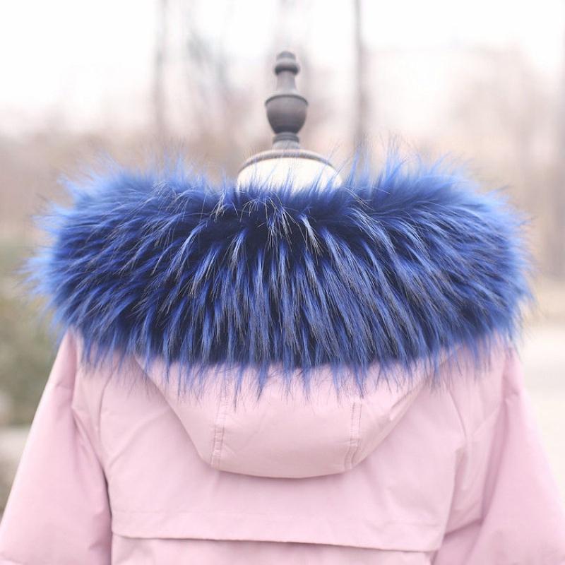 Super gran cuello de piel sintética caliente del invierno de la bufanda de las señoras abajo cubren cuello con capucha de las mujeres