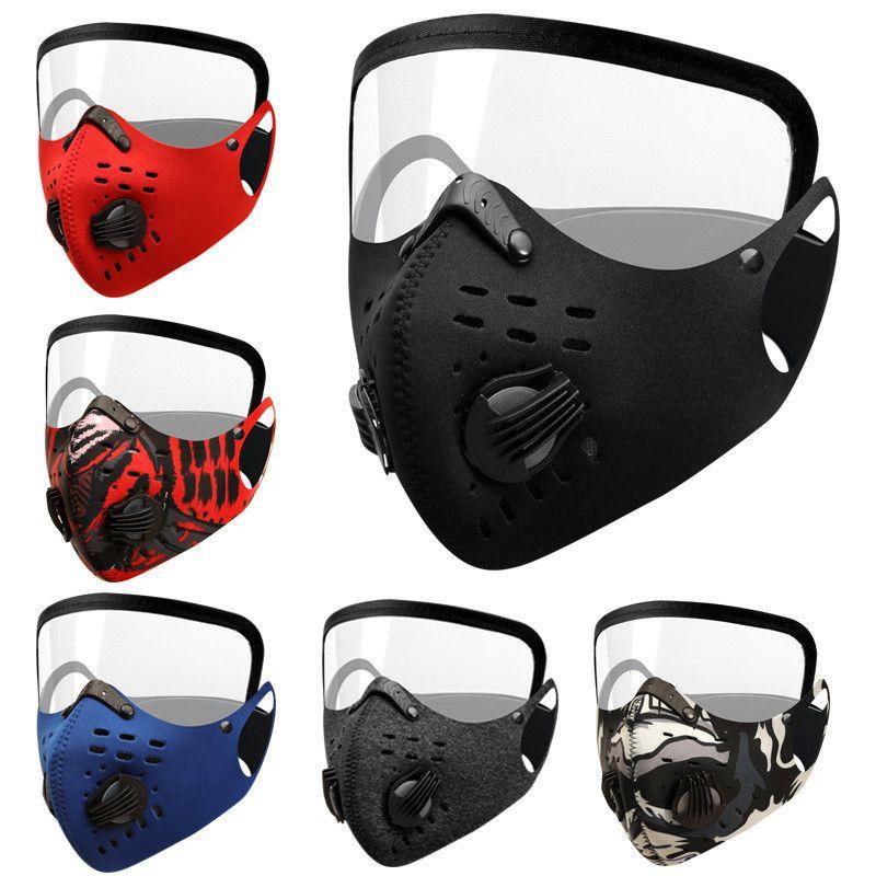 NEW Велоспорт маска Активированный уголь с фильтром РМ2,5 Anti-Загрязнения Спорт Бег дорожный велосипед Защита от пыли маска HHC1278