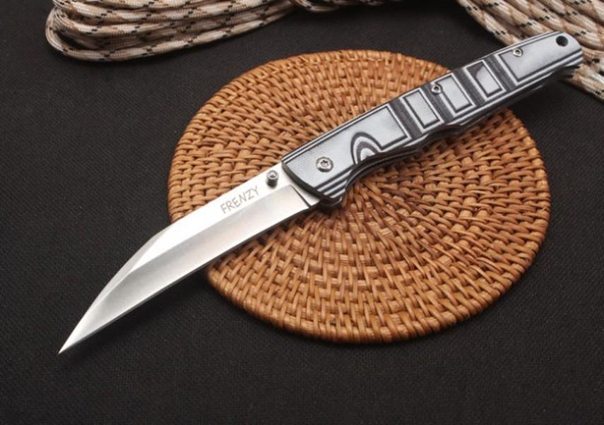 FREDDO IN ACCIAIO meticcio di tasca piegante di sopravvivenza della lama di campeggio coltelli da caccia Xmas lame del regalo coltello a3011
