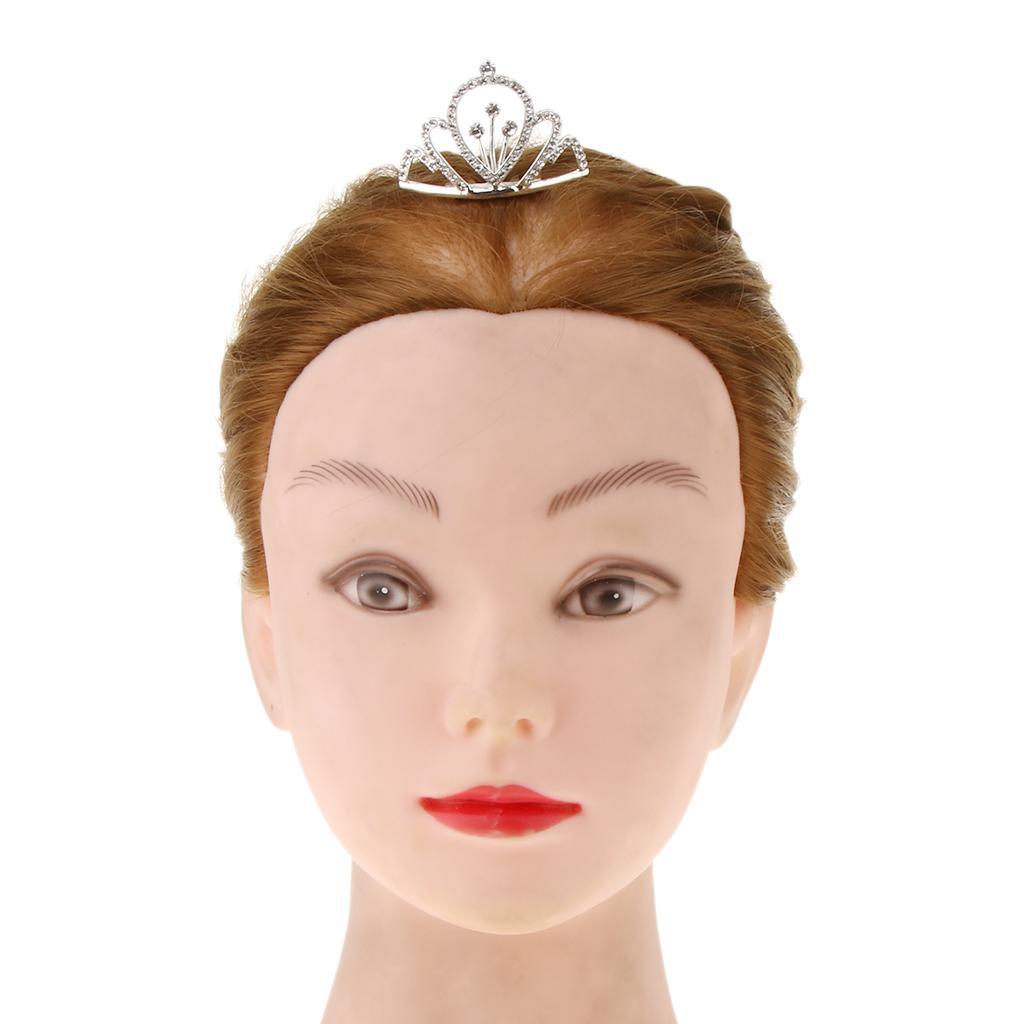 Acessórios de cabelo Festa de aniversário de casamento elegante Mini Crown Crystal Clear Rhinestone Tiara