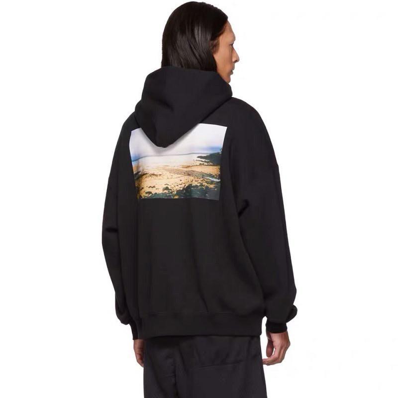 Hiver Hommes Designer Casual Mode Hoodie Hip Hop Coton Hommes Femmes Sweats Sweats à capuche Sweat Noir Taille S-2XL