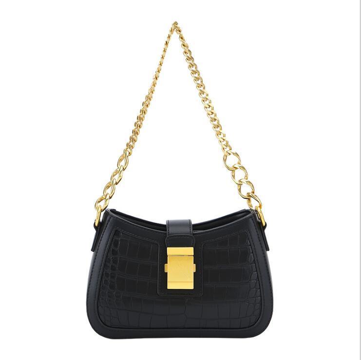 Yeni basit ve retro kadın çanta çapraz çanta crossbody çanta bayan çanta için tek omuz zincir torbasını tasarımcıları
