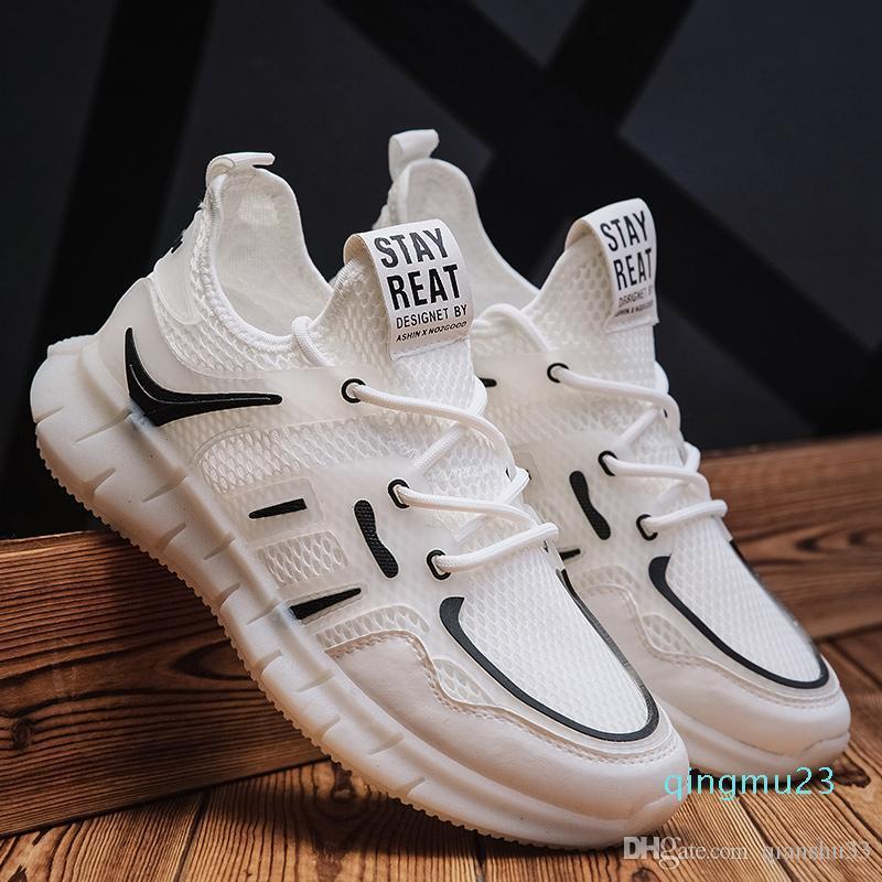 Caldo-vendita di leader Visualizza 2020 uomini scarpe da corsa tessuto Air Mesh Calzature Uomo Sport Sneakers traspirante Zapatillas Hombre Uomini Sneakers all'aperto