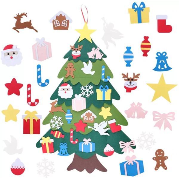 DIY Войлок крюк украшения рождественской елки и петли 3D Трехмерное рождественской елки Дети Drop Доставка