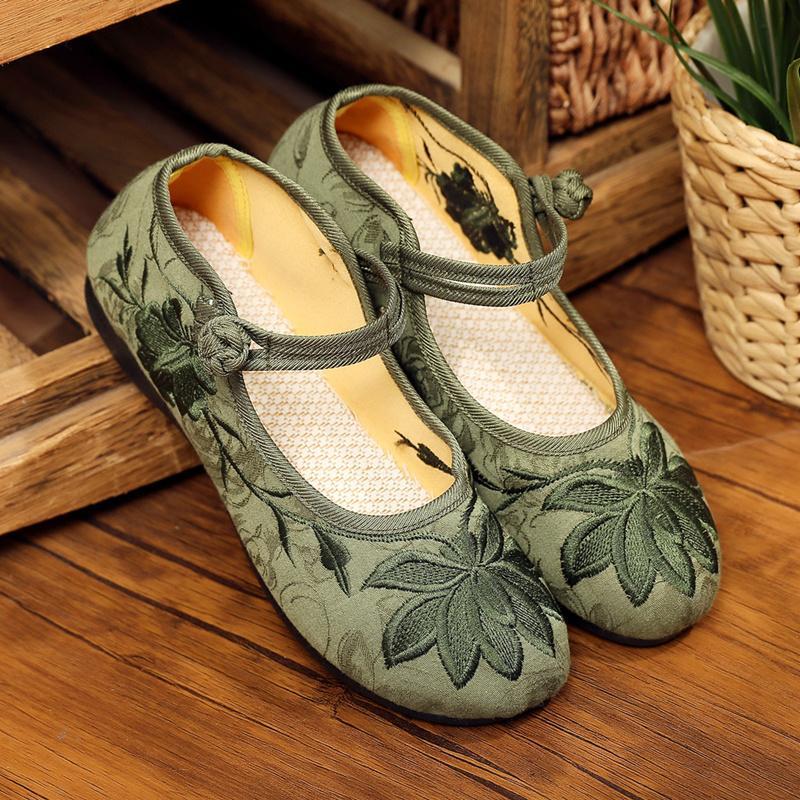 Cresfimix Zapatos De Mujer Kadınlar Sevimli Yeşil Çiçek Desen Ayakkabı Lady Casual Karşıtı Skid Bale Ayakkabıları Tatlı Dans B5510