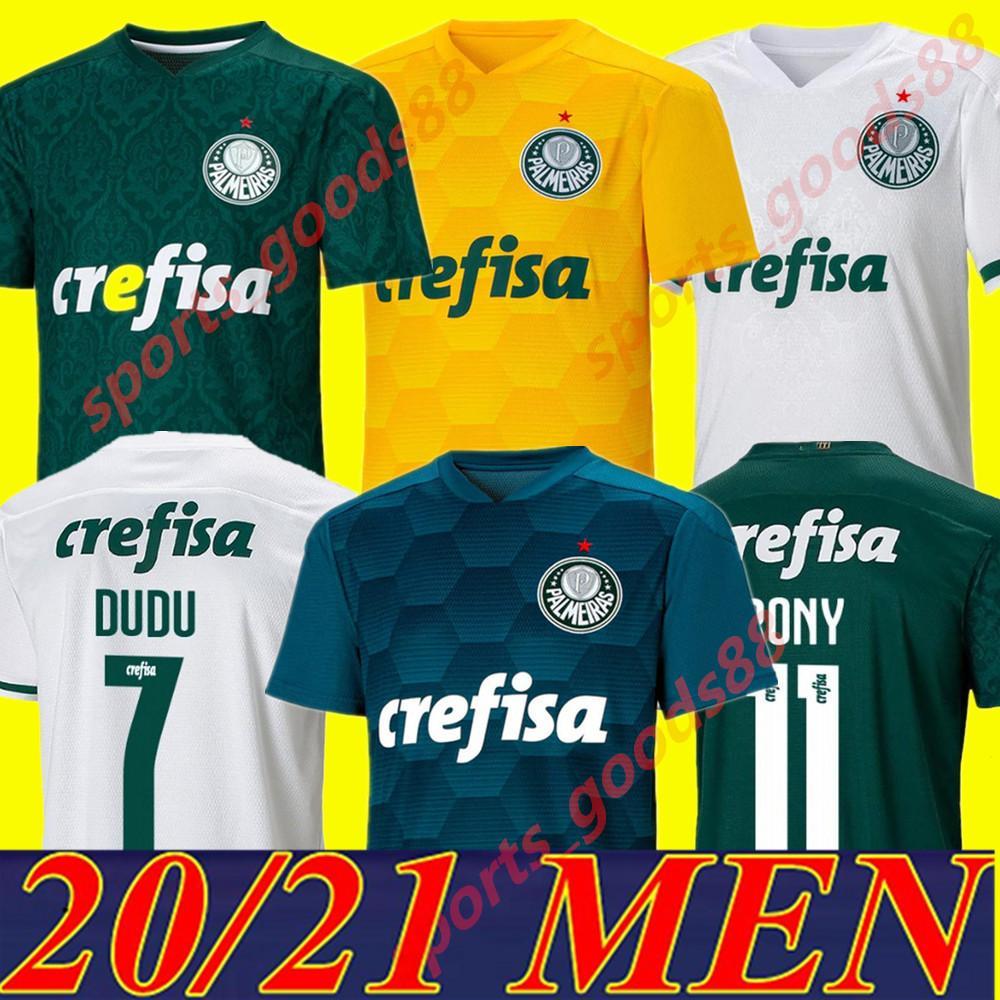 20 21 21 Джорджеры Palmeiras L. Adri Футбол 2020 Главный зеленый # 9 Borja Футбольная рубашка прочь белый # 7 Дуду Пальмерас Вратарь 3RD Футбольная форма