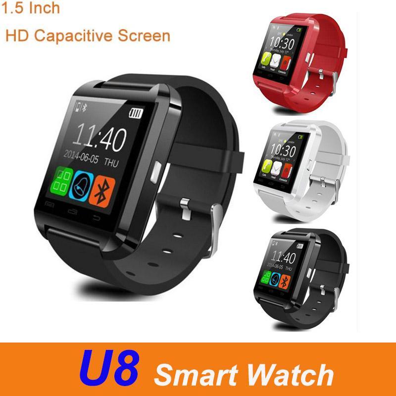 Mulifunction U8 Bluetooth Smart Watch Men Women Pedometer 1.5 inch Touch Screen Sport Intelligent Smartwatch Bracelet For Android Ios