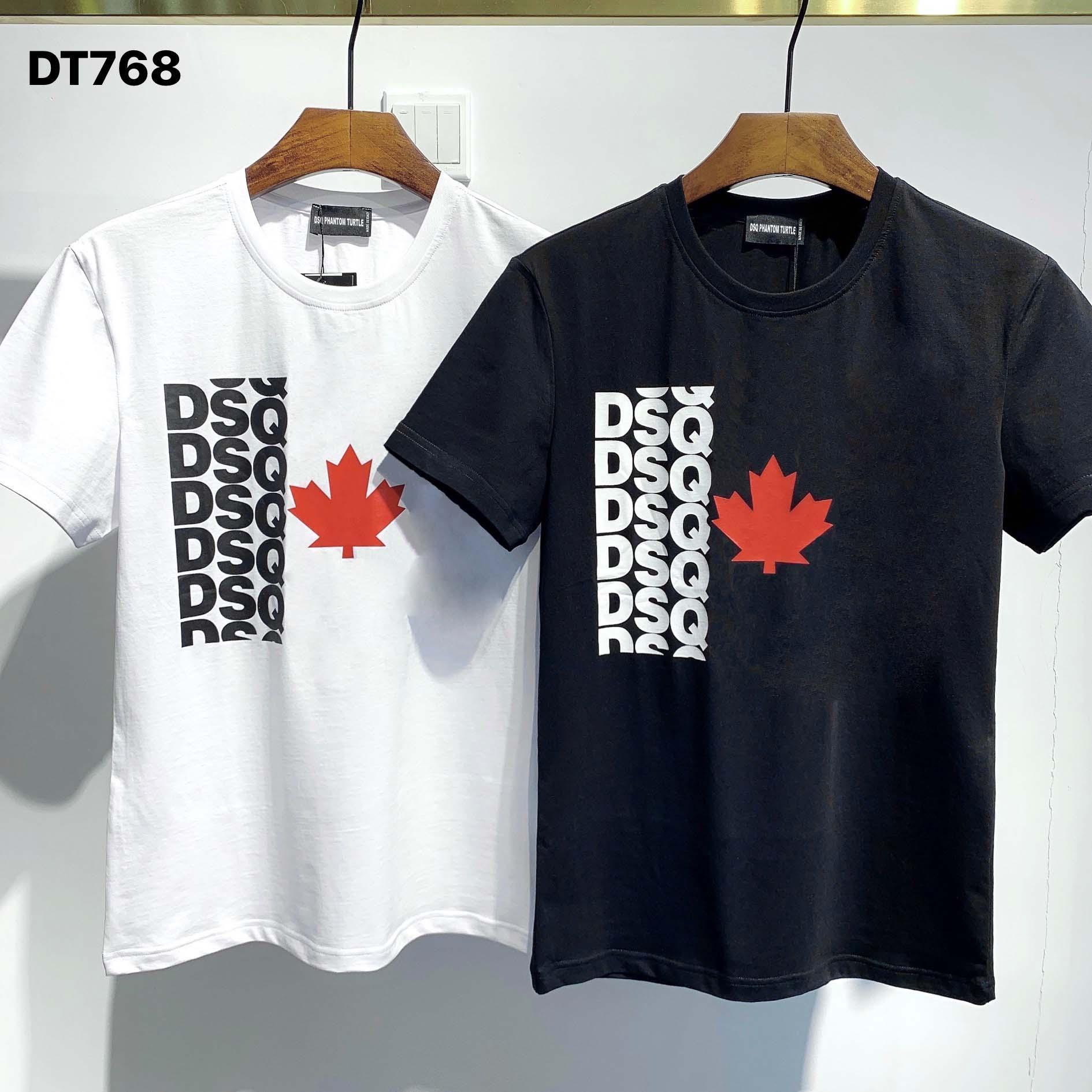 DSQ Phantom Turtle 2020ss New Mens Designer T-shirt Italie T-shirts Été Hommes DSQ T-shirt Homme Top Qualité 100% coton Top 5863