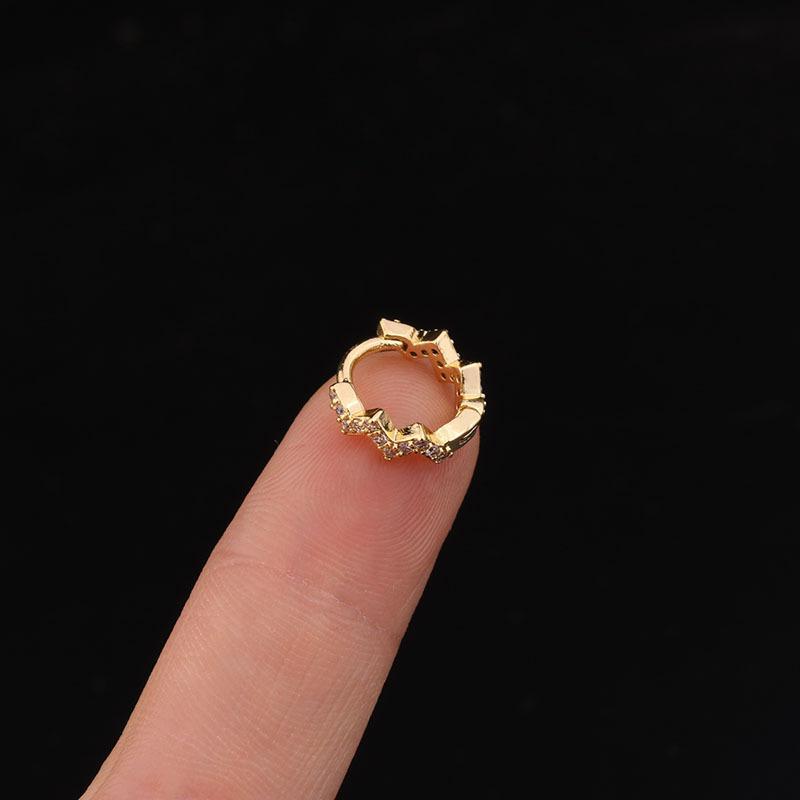 1 PCS singole Carino Orecchio piccola onda Circle polsino di Hoops orecchini semplici Classic geometrica chiusa orecchie clip Orecchino ad anello