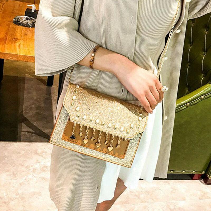Reino Unido Mulheres Shoulder Bag Wedding Party Ladies saco de embreagem cadeia bolsa quatro cores Evening