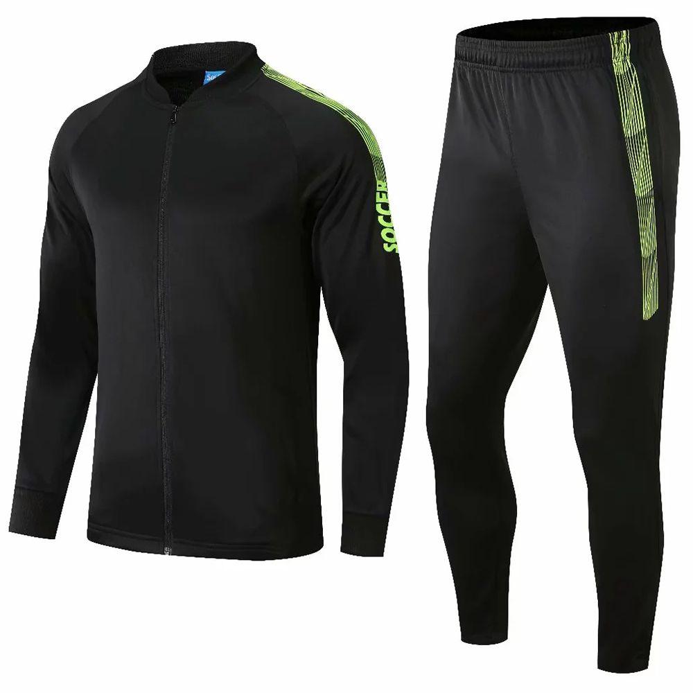 2020 New Outono Inverno Homens Meninos Crianças manga comprida de Futebol Treino Treinar Correndo Football Jersey calças Sets