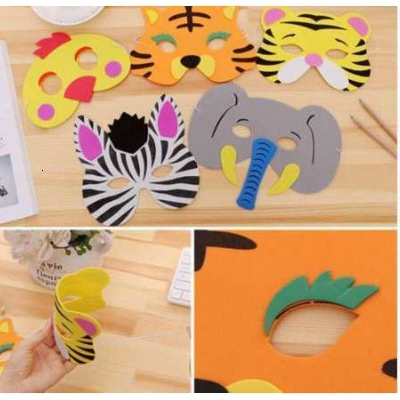 for Masks Eva New Animal Funny Foam 1pc Kids Assorted Birthday Favors Dress Up Costume Zoo Jungle Party Supplies