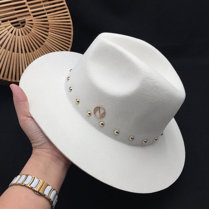 laine norme Fedoras blanc Nouvelle-Angleterre automne marée cap rivet hiver dames femmes chapeaux pour dames panama