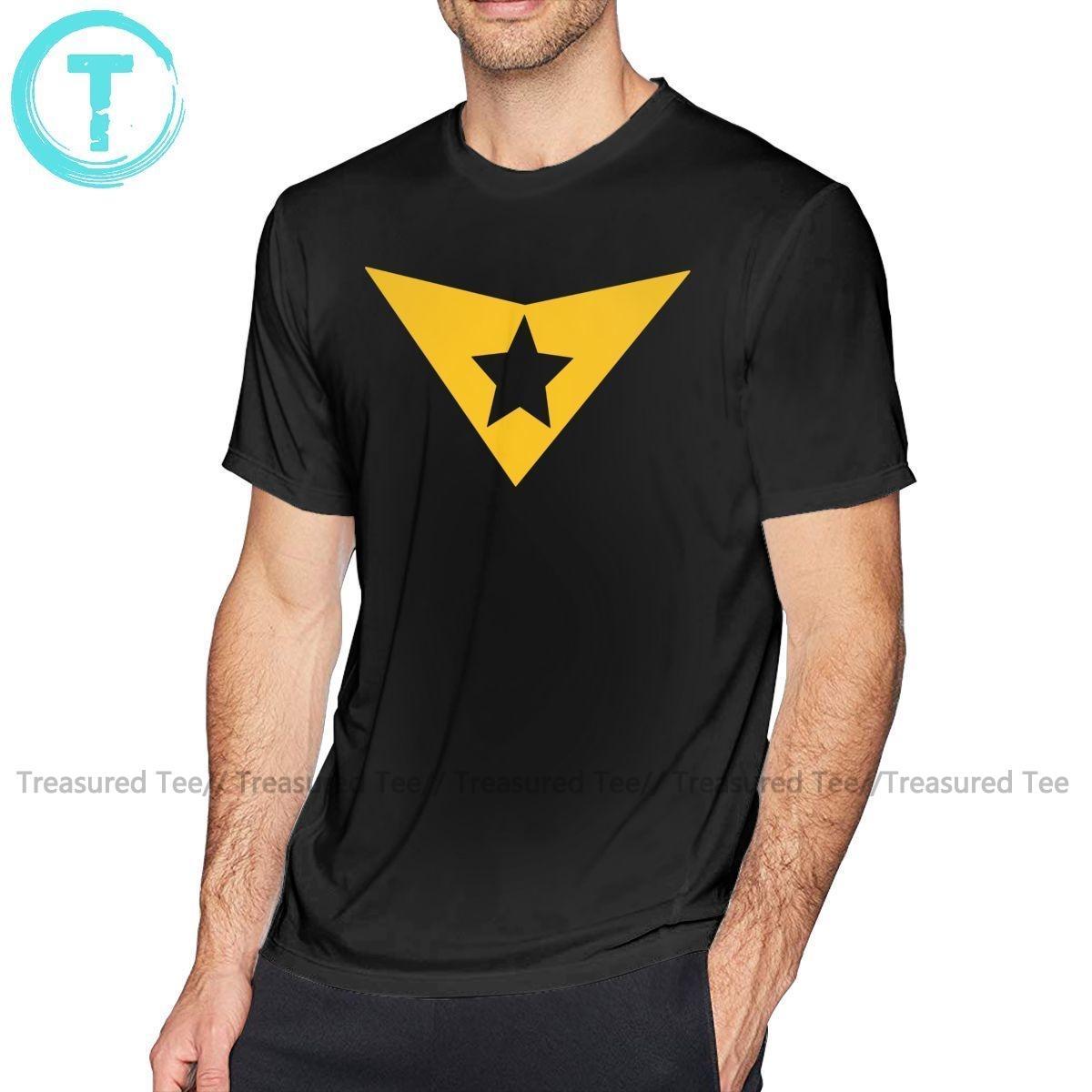 Justice League Tişörtlü Booster Altın Klasik Tişört Moda Man Tee Gömlek 100 Yüzde Pamuk Grafik Tişört