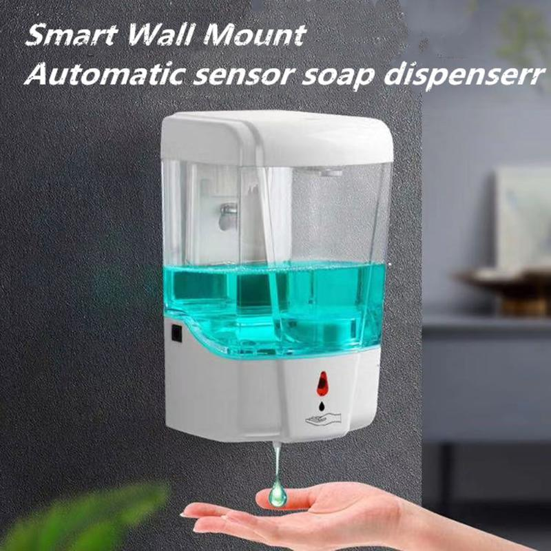700ml Automatic Liquid Soap Dispenser Touchless Wall Mounted Smart Sensor Hand Washing Container for Kitchen Bathroom