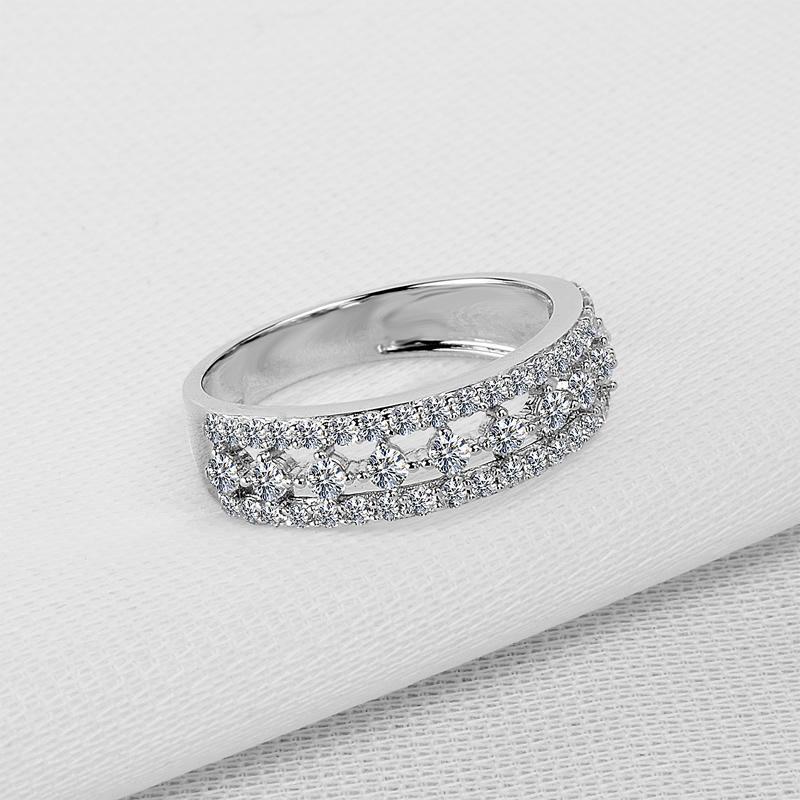 bbydd Wedding Party geometria Hallow esterlina anéis Ainuoshi prata amante presente anéis de noivado 925 Jóias aniversário aniversário prata