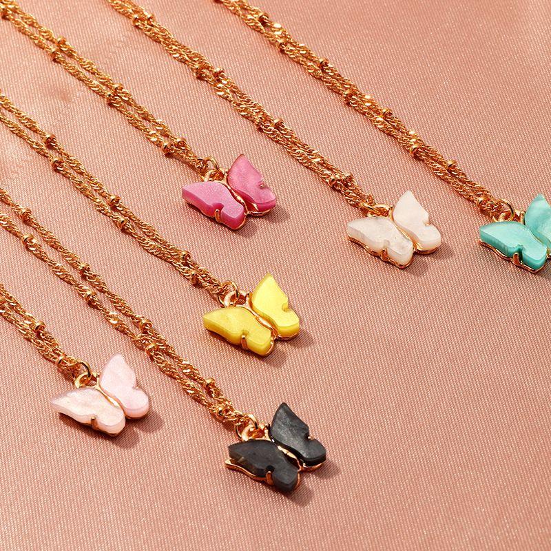 2020 monili della collana di INS farfalla del nuovo di modo pendente delle donne collane regalo per le ragazze Dichiarazione partito dei monili di farfalla colorata
