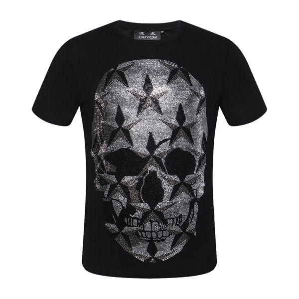 Packaging Packaging! Mens Designer T Shirt T Shirt Summer Hombre Tshirt Tshirt 100% algodón Tops transpirable Moda Tees Skull Star Impreso 0921