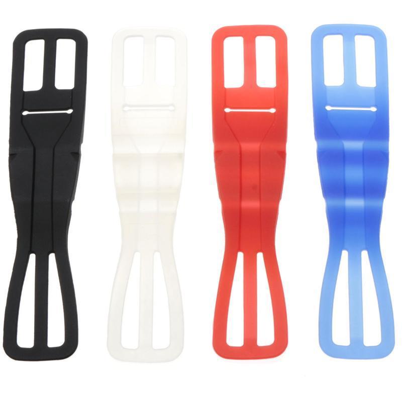 4 colores universal de silicona elástico motocicleta de la bicicleta monte bicicleta titular para el teléfono móvil