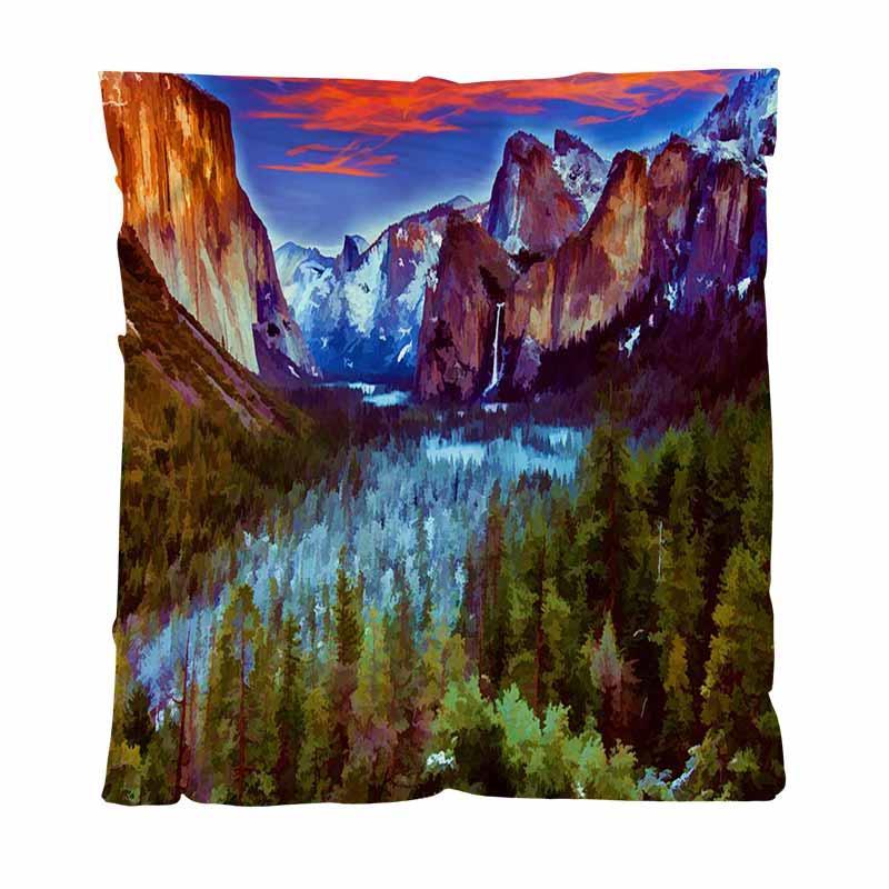Kış Atma Battaniye Süper Yumuşak Battaniyeler, Kış ayında Yosemite, All Season Fanila Battaniye Mükemmel İçin Couch Koltuk Or Oda