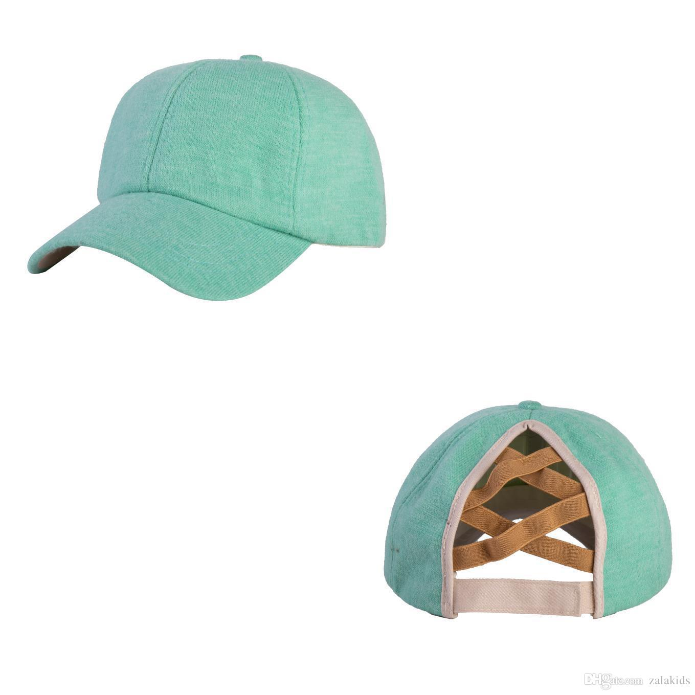 8 renk Kadınlar Snapback İçin Yeni Kış Beyzbol şapkası at kuyruğu Örme Dağınık Bun Şapka Casual Sıcak Açık Hat Caps