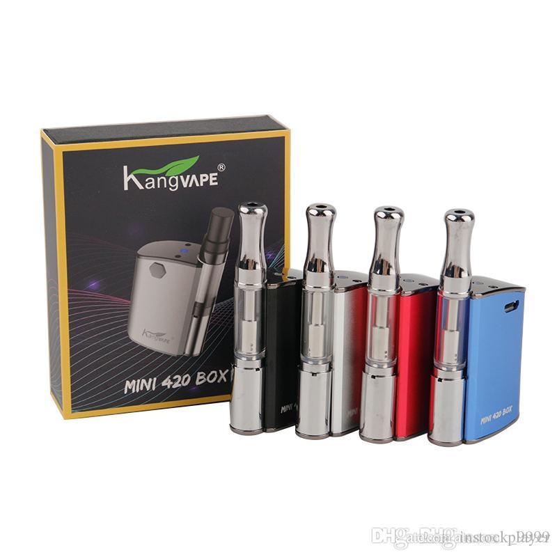 100% autêntico KangVape Mini 420 Kits 400mAh Pré-aqueça o Battery com Thick Oil 0,5 ml Cerâmica Bobina Cartridge Kit