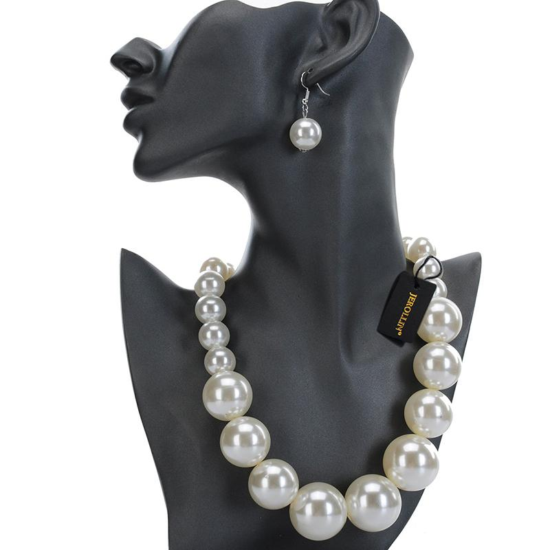 11 Farben bunten Frauen Schmuck Luxuxperlen Resin Statement baumeln Kollier Ohrringe Set Perlen Halsketten Frauen Schmuck