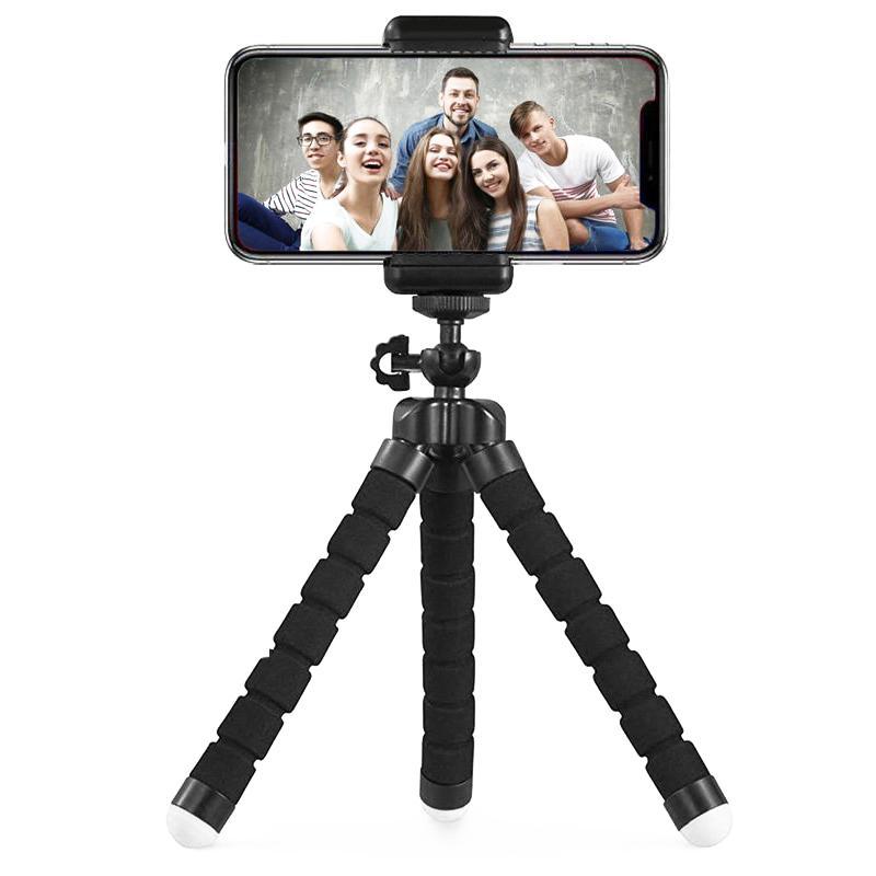 Telefon-Stativ, tragbar und justierbare Kamera-Stativ-Halter mit drahtlosen Fern und Universal Clip für, Android Phone, Cam