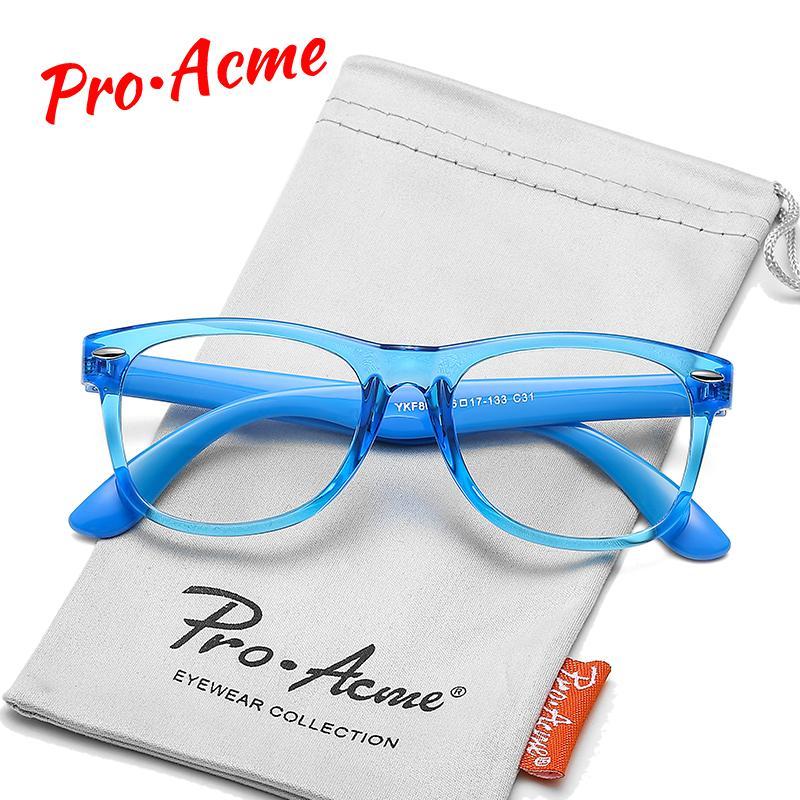 Pro Acme TR90 Гибкая Анти синий свет Блокировка очки для детей Computer Gaming очки для мальчиков девочек Возраст 3-12 UV400 PC1604C