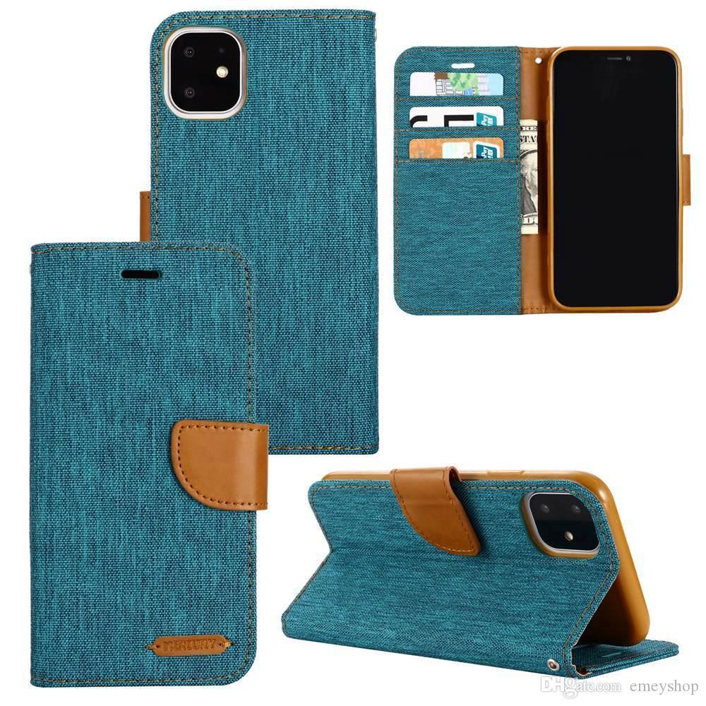 Ganga Mistura couro flip Cores PU iPhone Para o Caso 12 11 Pro Max X XS XR XS Max SE 6 6S 7 8 casos Além disso tampa do telefone