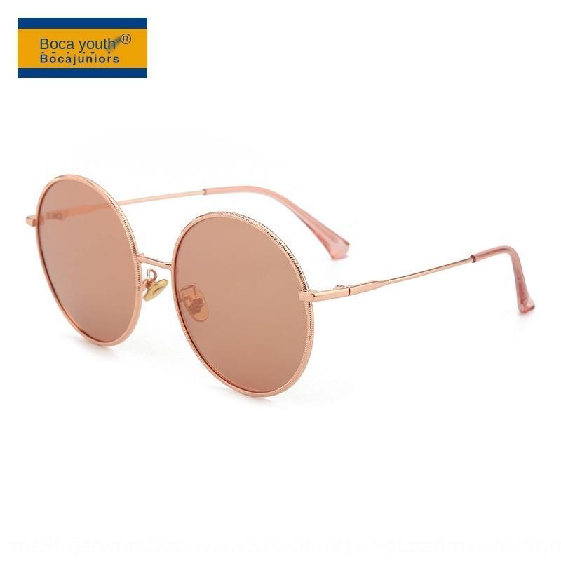 aNz5w 2020 yeni yuvarlak çerçeve, metal güneş kadın moda polarize güneş gözlüğü moda UV geçirmez camlar YY8913
